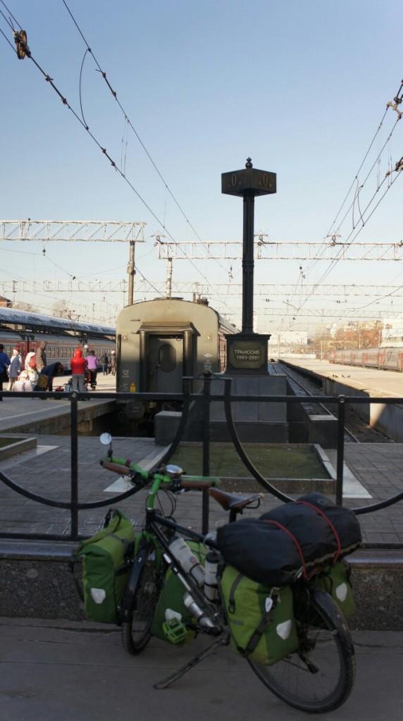 Le kilomètre 0 du transsibérien, le grand départ pour l'Est